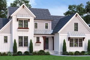 House Blueprint - Farmhouse Exterior - Front Elevation Plan #927-1010
