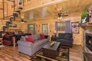 Cabin Style House Plan - 1 Beds 1 Baths 651 Sq/Ft Plan #123-115 Interior - Family Room