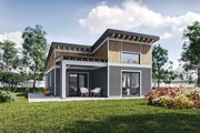 Contemporary Style House Plan - 2 Beds 1 Baths 935 Sq/Ft Plan #924-12 Exterior - Other Elevation