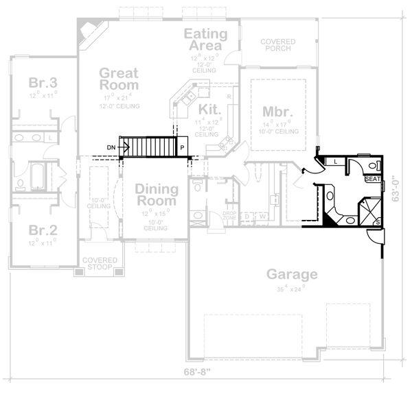 Dream House Plan - Traditional Floor Plan - Other Floor Plan #20-2417