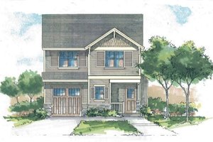 Craftsman Exterior - Front Elevation Plan #53-560