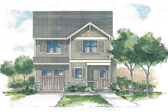 Craftsman Exterior - Front Elevation Plan #53-560