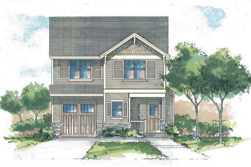 Craftsman Style House Plan - 3 Beds 2.5 Baths 1441 Sq/Ft Plan #53-560