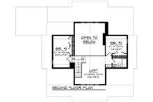 Craftsman Floor Plan - Upper Floor Plan Plan #70-1494