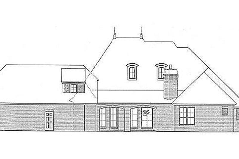 European Exterior - Rear Elevation Plan #310-687 - Houseplans.com