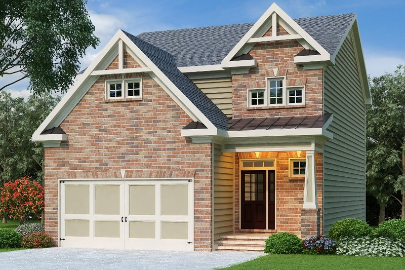 Home Plan - Traditional Exterior - Front Elevation Plan #419-195