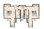 Farmhouse Style House Plan - 3 Beds 3.5 Baths 1851 Sq/Ft Plan #36-162 Floor Plan - Upper Floor Plan