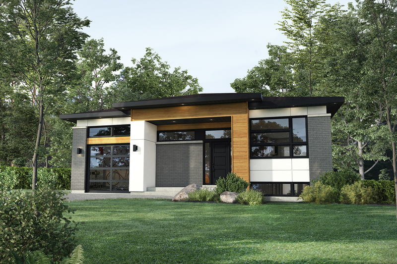 House Plan Design - Contemporary Exterior - Front Elevation Plan #25-4882