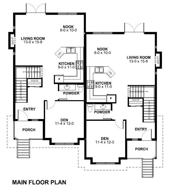 Victorian Floor Plan - Main Floor Plan Plan #126-152