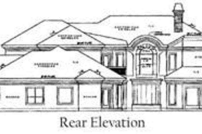 European Exterior - Rear Elevation Plan #61-162 - Houseplans.com