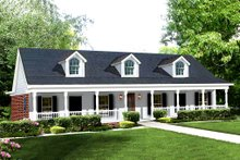 House Design - Southern Exterior - Front Elevation Plan #44-106