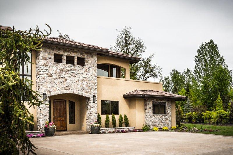 Architectural House Design - Adobe / Southwestern Exterior - Front Elevation Plan #451-25