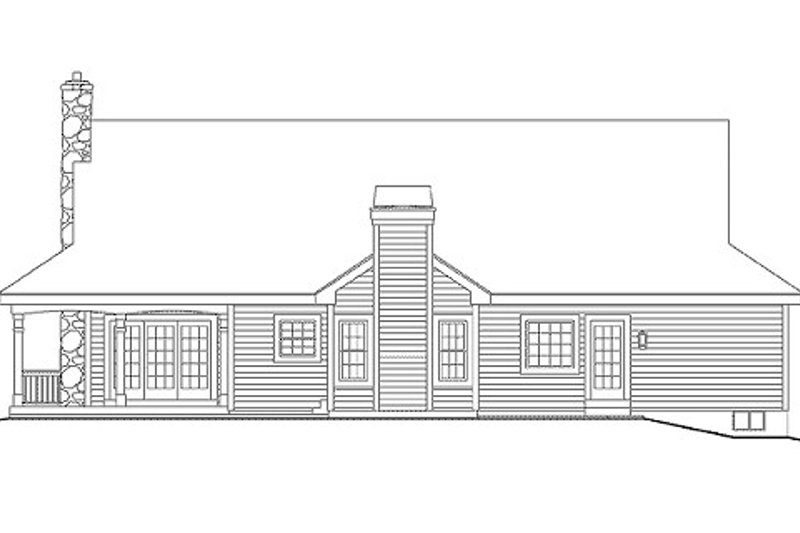 Southern Exterior - Rear Elevation Plan #57-329 - Houseplans.com
