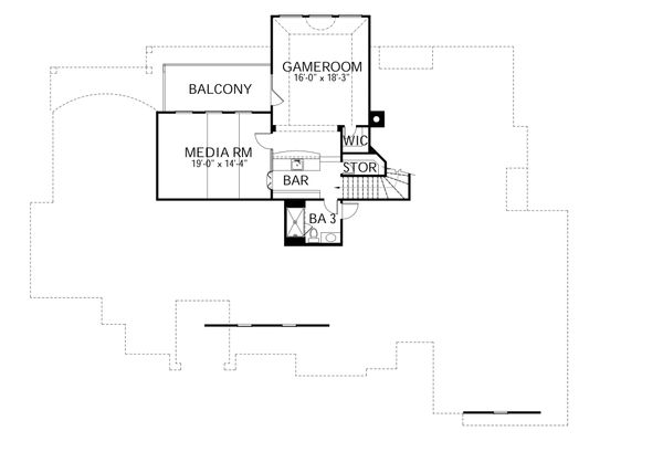 House Plan Design - European Floor Plan - Upper Floor Plan #80-160