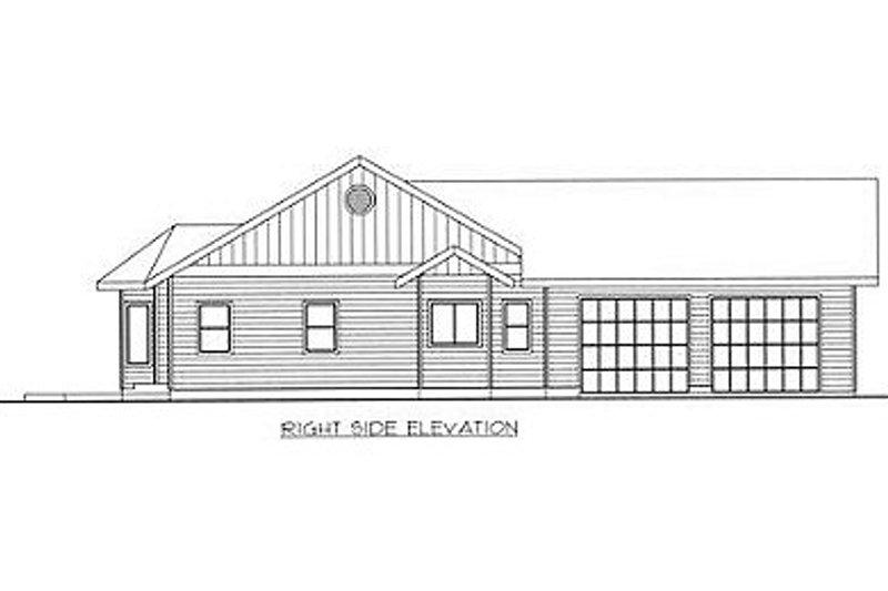 Ranch Exterior - Rear Elevation Plan #117-392 - Houseplans.com