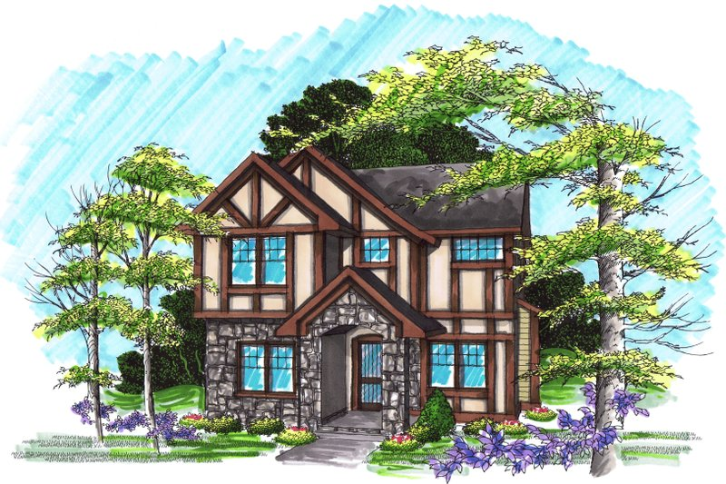 Traditional Exterior - Front Elevation Plan #70-1029