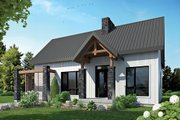 Contemporary Style House Plan - 2 Beds 1 Baths 1212 Sq/Ft Plan #23-2316 Exterior - Front Elevation