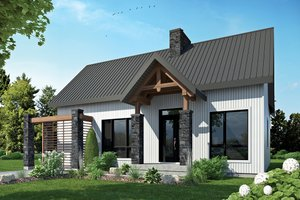 Home Plan - Contemporary Exterior - Front Elevation Plan #23-2316