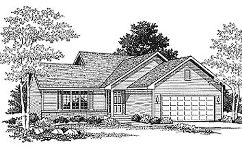 Traditional Exterior - Front Elevation Plan #70-121