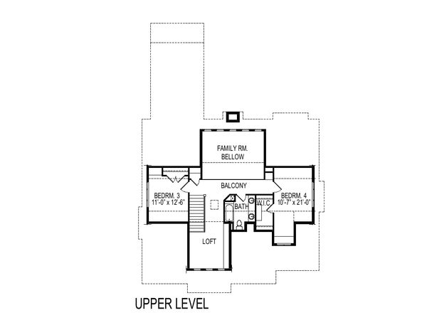Bungalow Floor Plan - Upper Floor Plan Plan #920-99
