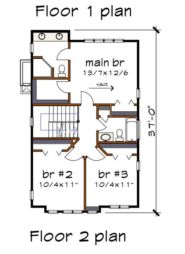 Dream House Plan - Modern Floor Plan - Upper Floor Plan #79-294