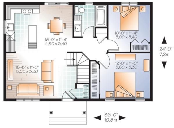Ranch Floor Plan - Main Floor Plan #23-2663