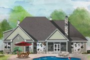 European Style House Plan - 4 Beds 3 Baths 2453 Sq/Ft Plan #929-1056 Exterior - Rear Elevation