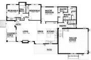 Craftsman Style House Plan - 3 Beds 2 Baths 1591 Sq/Ft Plan #895-104 Floor Plan - Main Floor