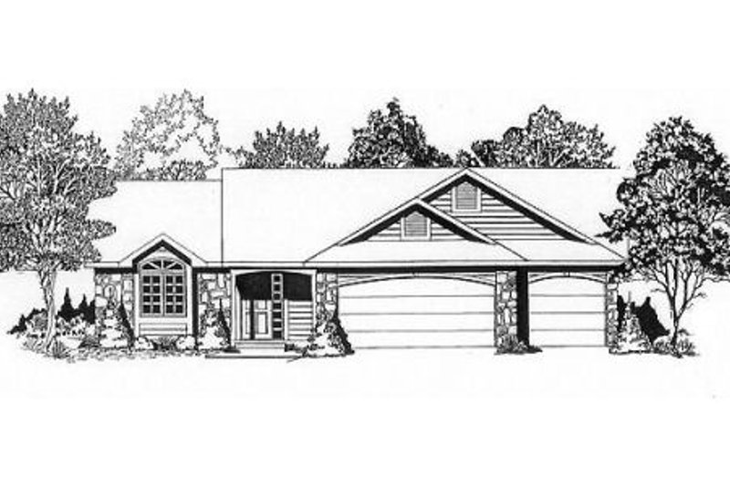 Traditional Exterior - Front Elevation Plan #58-136 - Houseplans.com