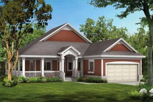Architectural House Design - Country Exterior - Front Elevation Plan #72-103