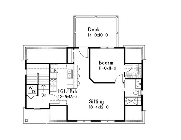 Farmhouse Floor Plan - Upper Floor Plan Plan #22-575