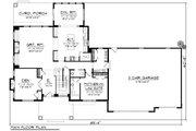 Craftsman Style House Plan - 5 Beds 3.5 Baths 3660 Sq/Ft Plan #70-1185 Floor Plan - Main Floor