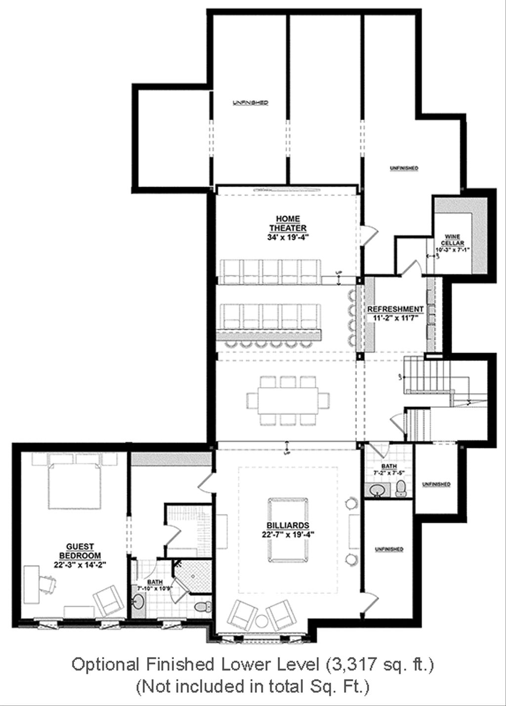 ... Floor Plan. Optional Finished Basement  sc 1 st  Homeplans.com & Country Style House Plan - 4 Beds 4.5 Baths 4852 Sq/Ft Plan #928-1 ...