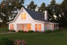 Dream House Plan - Farmhouse Exterior - Front Elevation Plan #888-13
