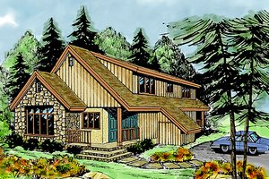 Contemporary Exterior - Front Elevation Plan #456-8