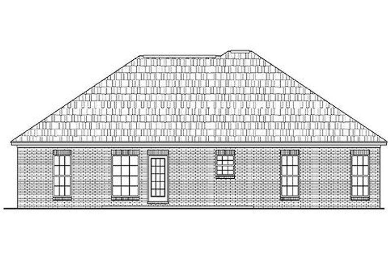 Ranch Exterior - Rear Elevation Plan #430-9 - Houseplans.com