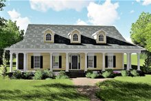 Country Exterior - Front Elevation Plan #44-155