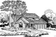 Traditional Style House Plan - 3 Beds 2.5 Baths 1696 Sq/Ft Plan #312-572 Exterior - Front Elevation