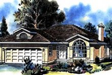 House Blueprint - Ranch Exterior - Front Elevation Plan #18-137