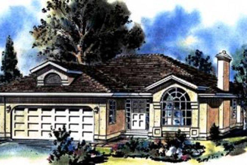 House Blueprint - Ranch Exterior - Front Elevation Plan #18-137