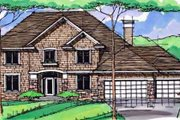 Traditional Style House Plan - 4 Beds 2.5 Baths 3217 Sq/Ft Plan #51-398 Exterior - Front Elevation