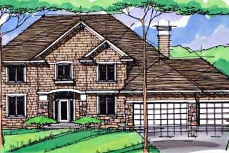 Traditional Exterior - Front Elevation Plan #51-398 - Houseplans.com