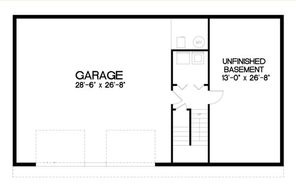 Architectural House Design - Traditional Floor Plan - Lower Floor Plan #56-123