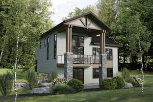Cottage Exterior - Front Elevation Plan #25-4929