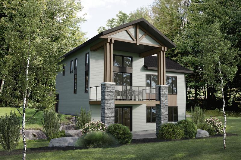 House Plan Design - Cottage Exterior - Front Elevation Plan #25-4929