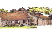 Modern Style House Plan - 4 Beds 3.5 Baths 2645 Sq/Ft Plan #320-154 Exterior - Front Elevation