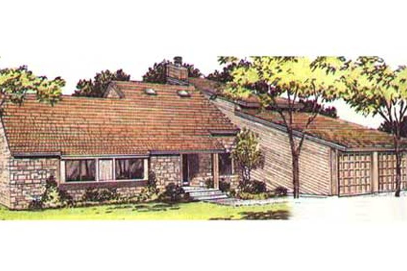 Modern Exterior - Front Elevation Plan #320-154 - Houseplans.com