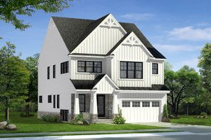 Home Plan - Farmhouse Exterior - Front Elevation Plan #1057-28