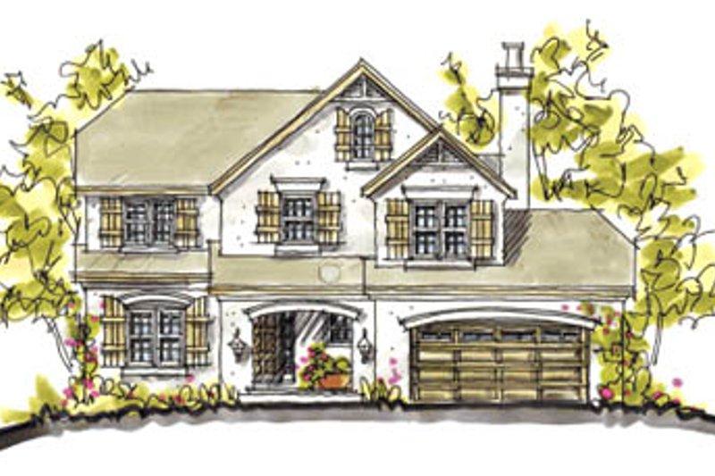 House Plan Design - European Exterior - Front Elevation Plan #20-2034