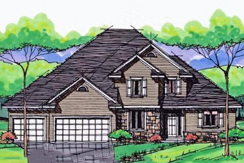 Traditional Exterior - Front Elevation Plan #51-405